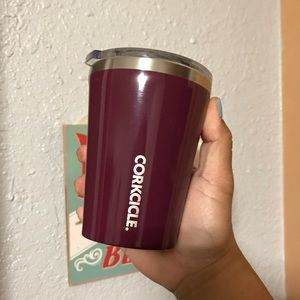Corkcicle Purple Wine Red 12oz Coffee Tumbler Cup